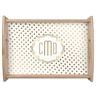 Gold Polka Dots Pattern Serving Trays