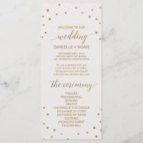 Gold Polka Dots Wedding Program