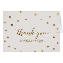 Gold Polka Dots Wedding Thank You