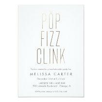 Gold Pop Fizz Clink Bachelorette Faux Foil Card