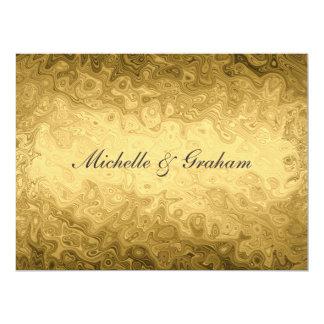 "Gold Popular Elegant Wedding Invitation 6.5"" X 8.75"" Invitation Card"