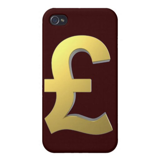 Gold Pound Sign Graphic iPhone 4/4S Case
