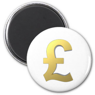 Gold Pound Sign Graphic Magnet