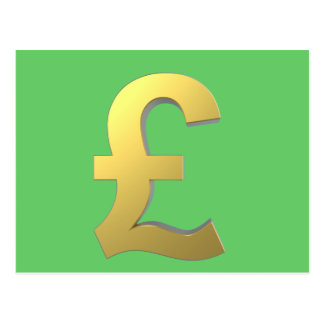Gold Pound Sign Graphic Postcard