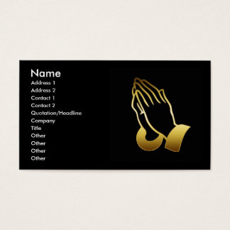 GOLD PRAYING HANDS BUSINESS CARDS