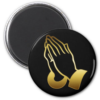 GOLD PRAYING HANDS REFRIGERATOR MAGNET