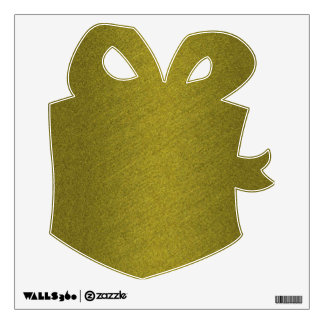 Gold Present Wall Sticker
