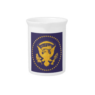 Gold Presidential Seal on Blue Ground Beverage Pitcher