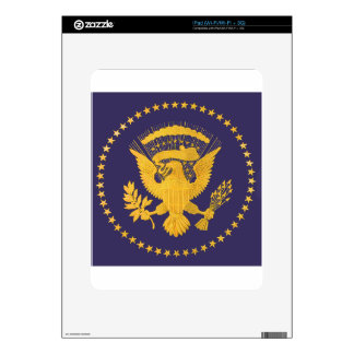 Gold Presidential Seal on Blue Ground Skin For iPad