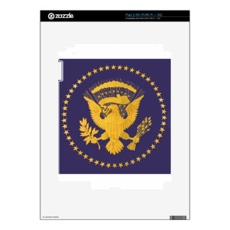Gold Presidential Seal on Blue Ground Skins For iPad 2