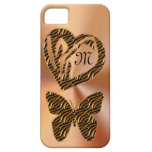 Gold Pretty Butterflies and Heart iPhone 5S Case Cover For iPhone 5/5S