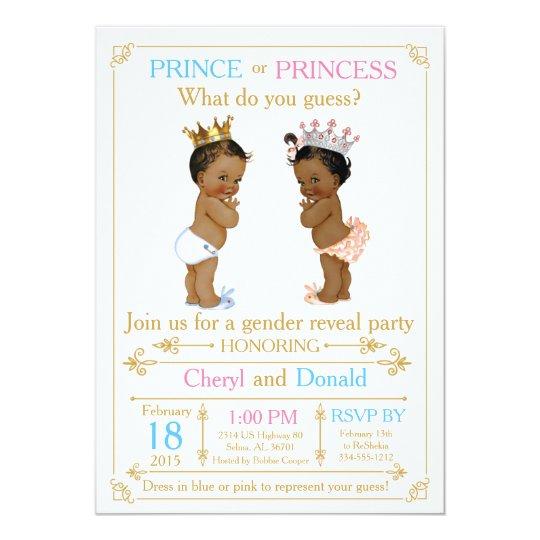 Gold Prince or Princess Gender Reveal Baby Shower ...