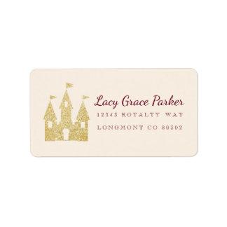 Gold Princess Castle Label