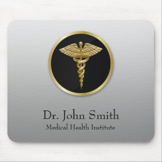 Gold Professional Medical Caduceus - Mousepad