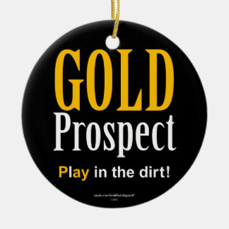 Gold Prospect Christmas Tree Ornament