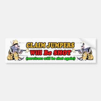 Gold Prospecting Bumpersticker Bumper Sticker