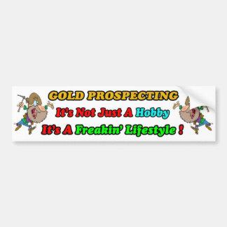 Gold Prospecting Bumpersticker Car Bumper Sticker