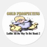 Gold Prospecting Classic Round Sticker