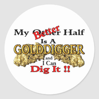 Gold Prospecting Classic Round Sticker