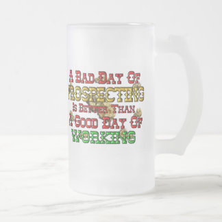 Gold Prospecting Frosted Glass Beer Mug