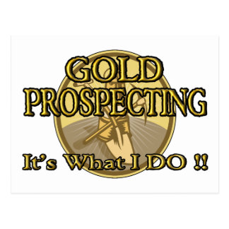 GOLD PROSPECTING - It's What I DO !! Postcard