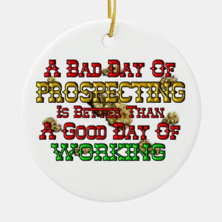 Gold Prospecting Christmas Tree Ornament
