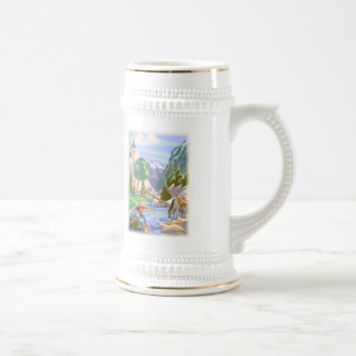 Gold Prospector Colorful Print Beer Stein