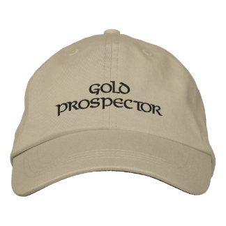 Gold Prospector Panning Embroidered Hat Cap