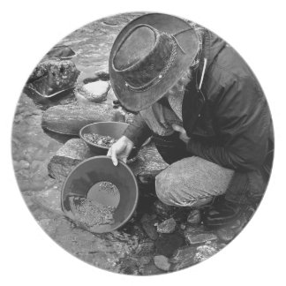 Gold Prospector Party Plates