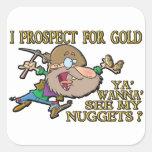 Gold Prospector Square Sticker