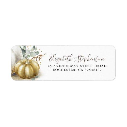 Gold Pumpkin Fall Harvest Fairytale Cinderella Label