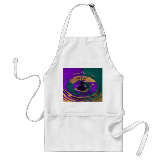 Gold Purple and Green Water Drop Adult Apron