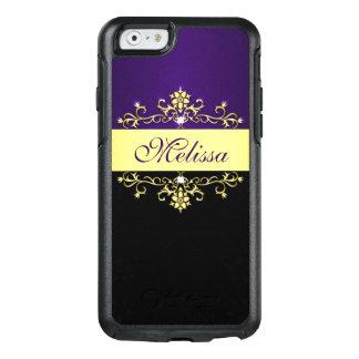 Gold Purple Black Floral OtterBox iPhone 6/6s Case