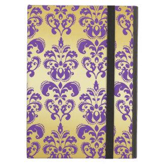 Gold Purple Damask Pattern 2 iPad Folio Case