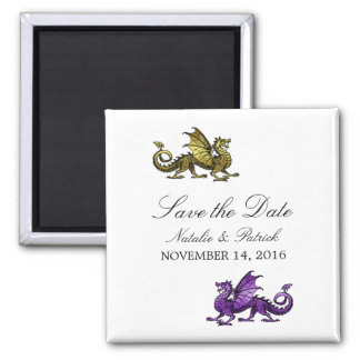 Gold Purple Dragon Save the Date Magnet