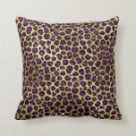 Gold & Purple Glam Leopard Throw Pillow