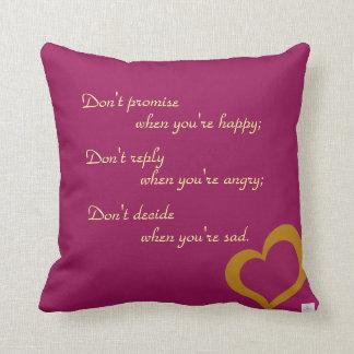 Gold/Purple Heart Pillows