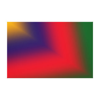 Gold, Purple, Red and Green Abstract Canvas Print