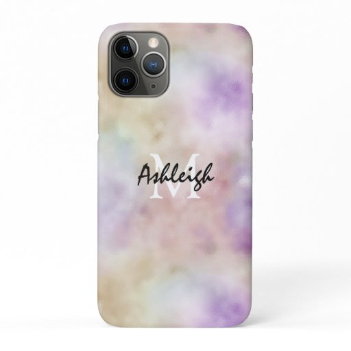 Gold Purple Tie dye Monogram            iPhone 11 Pro Case