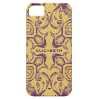 Gold & Purple Victorian Design - Customized iPhone 5 Covers