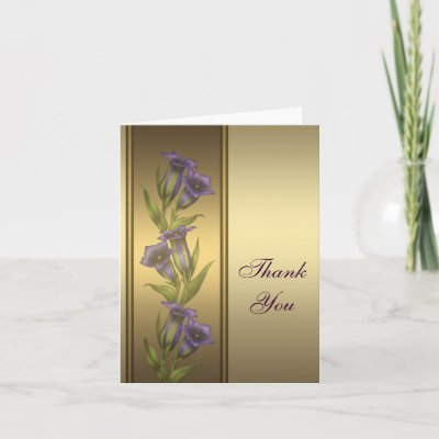 Violets Thank you Cards