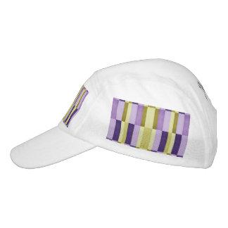 Gold & Purple Woodgrain Pattern Headsweats Hat