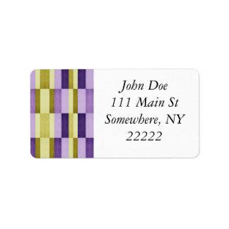 Gold & Purple Woodgrain Pattern Label