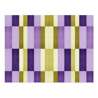 Gold & Purple Woodgrain Pattern Postcard