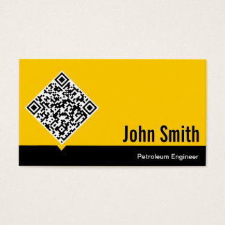 Gold QR Code Petroleum Engineer Business Card