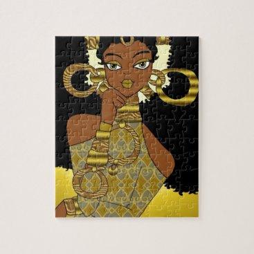 jasmineflynn Gold Queen Jigsaw Puzzle