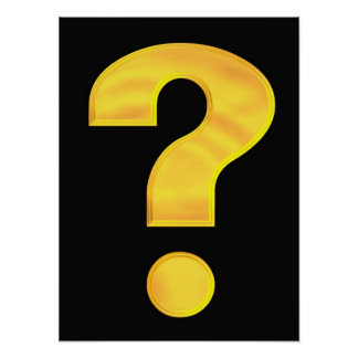 Gold Question Mark Poster