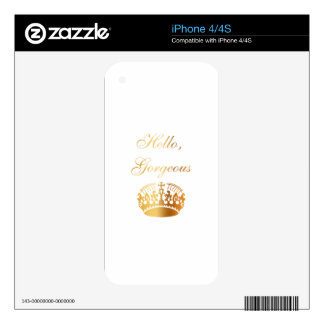 Gold quote chic luxury girly design iPhone 4 decal