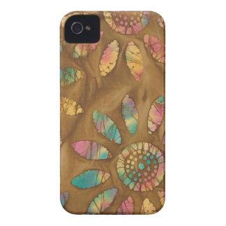Gold Rainbow Pastels Daisy Flower Batik iPhone 4 Case