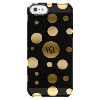 Gold Random Circles Pattern Clear iPhone SE/5/5s Case